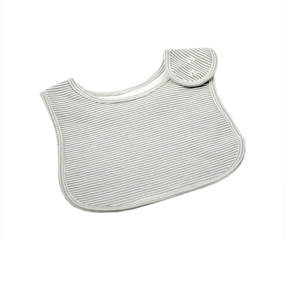 Grey and White Stripe Bib
