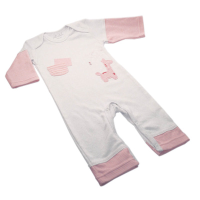 Pink and White Safari Onesie