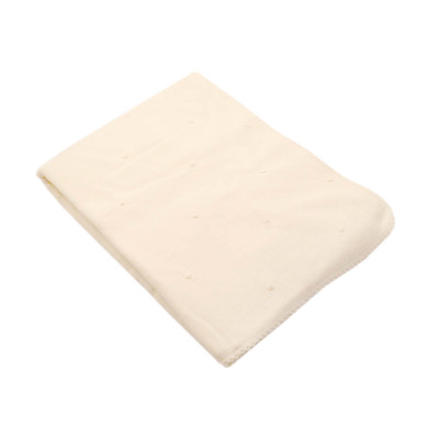 Cream Knotted Cotton Blanket