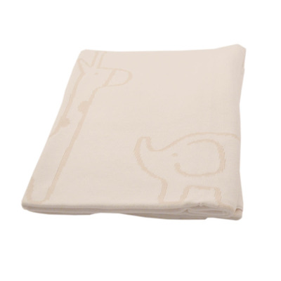 Cream Safari Cotton Blanket