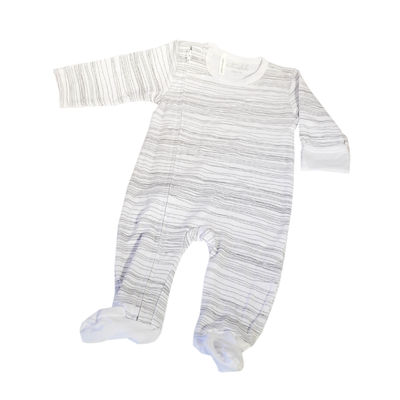 Grey Scribble Zip Up Onesie