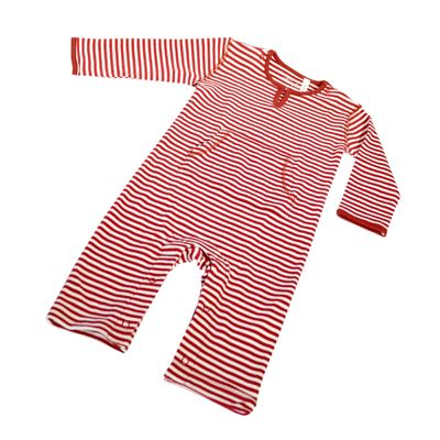 Red French Stripe Onesie