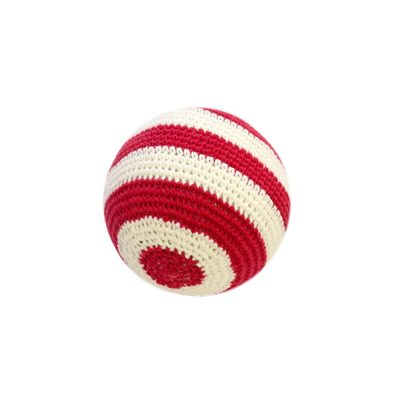 Red and White Soft Crochet Ball