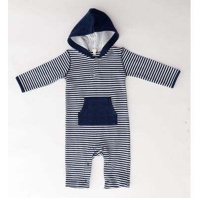 Navy French Stripe Onesie