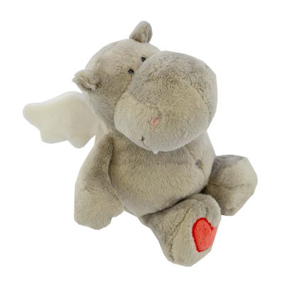 Plush Grey Hippo