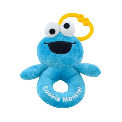 Super Soft Cookie Monster Ring Rattle