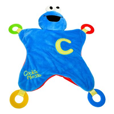 Super Soft Cookie Monster Activity Blanket 43cm