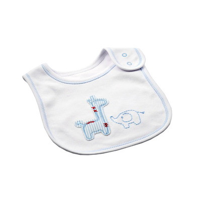 Blue and White Safari Bib