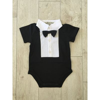 Black Formal Short Sleeve Onesie [Size: 00]