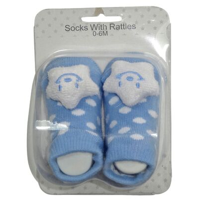 Socks with Rattles - Blue Star