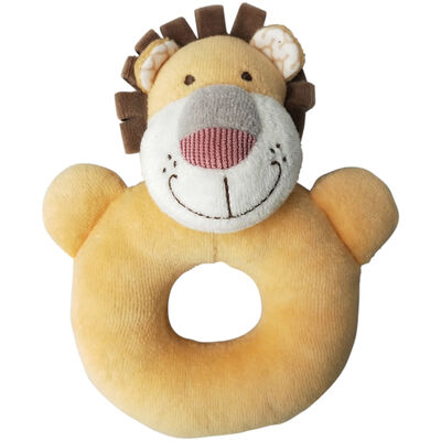 Lion Beige Rattle Ring 15cm