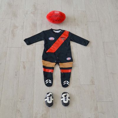 AFL Essendon Bombers - Bombs Away with Red and Black