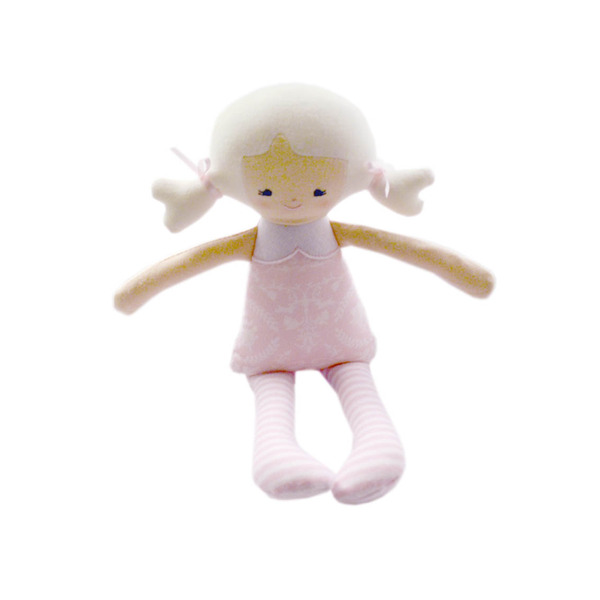 Pink Doll Rattle