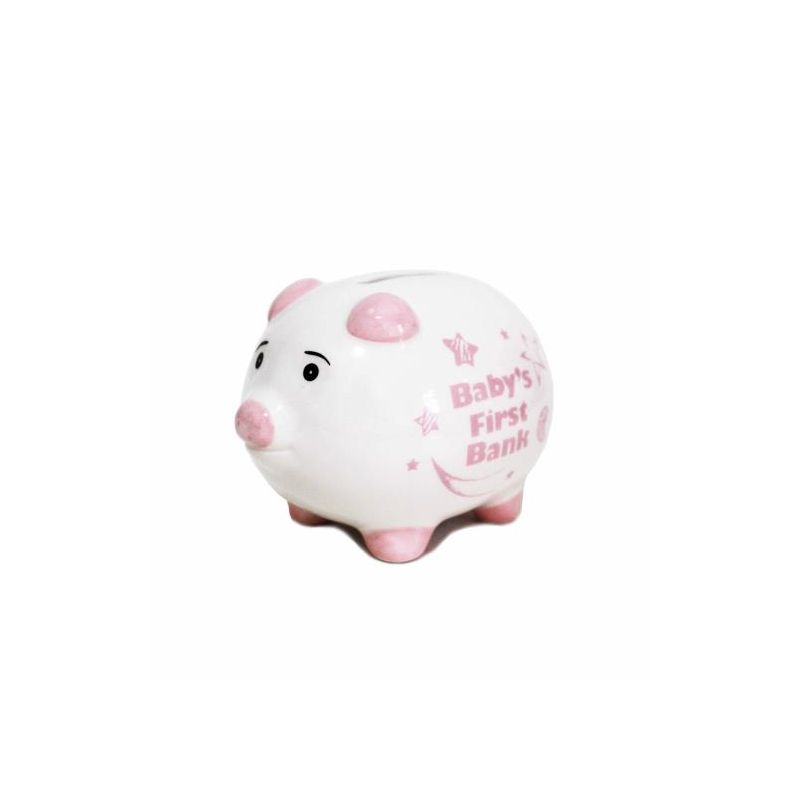 Baby 1st Piggy Bank Pink