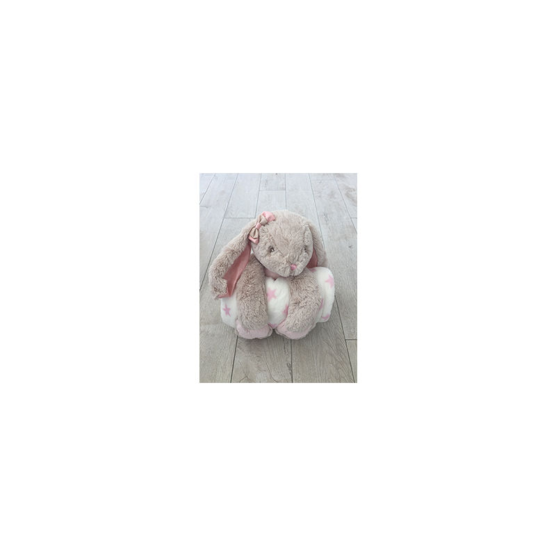 "Cuddly Rabbit 10"" with Blanket"