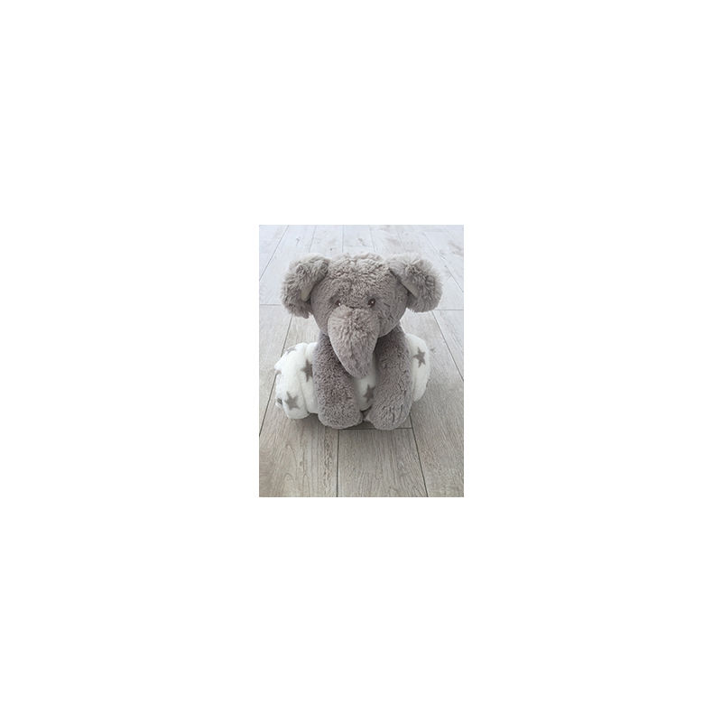 "Cuddly Elephant 10"" with Blanket"