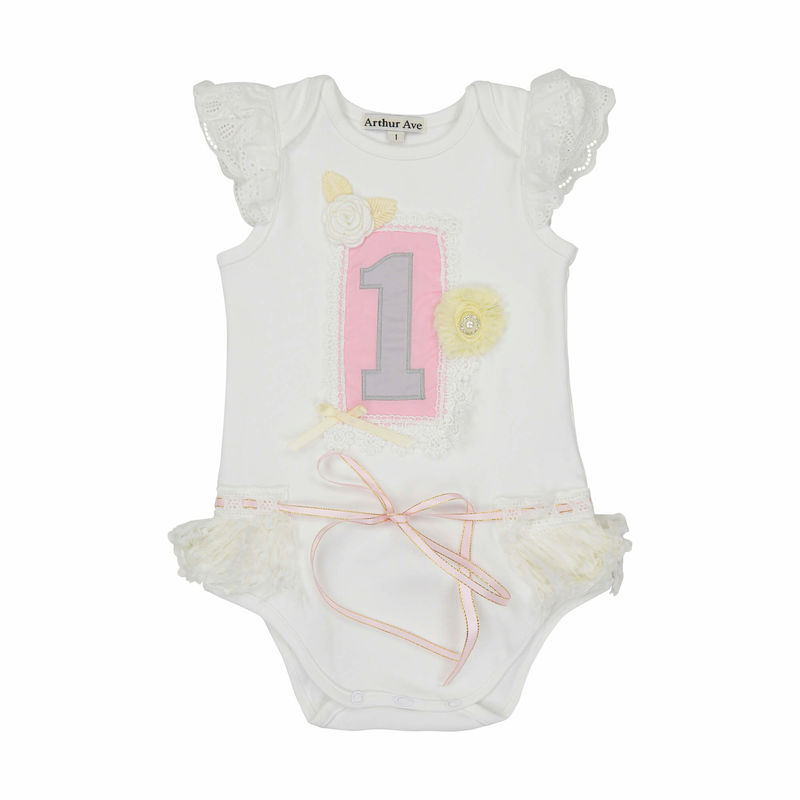 First Birthday Baby Girl Onesie