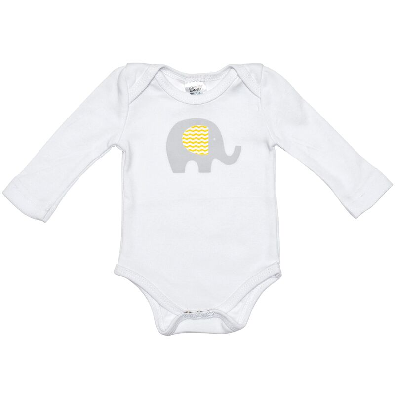 Grey Elephant Long Sleave Onesie