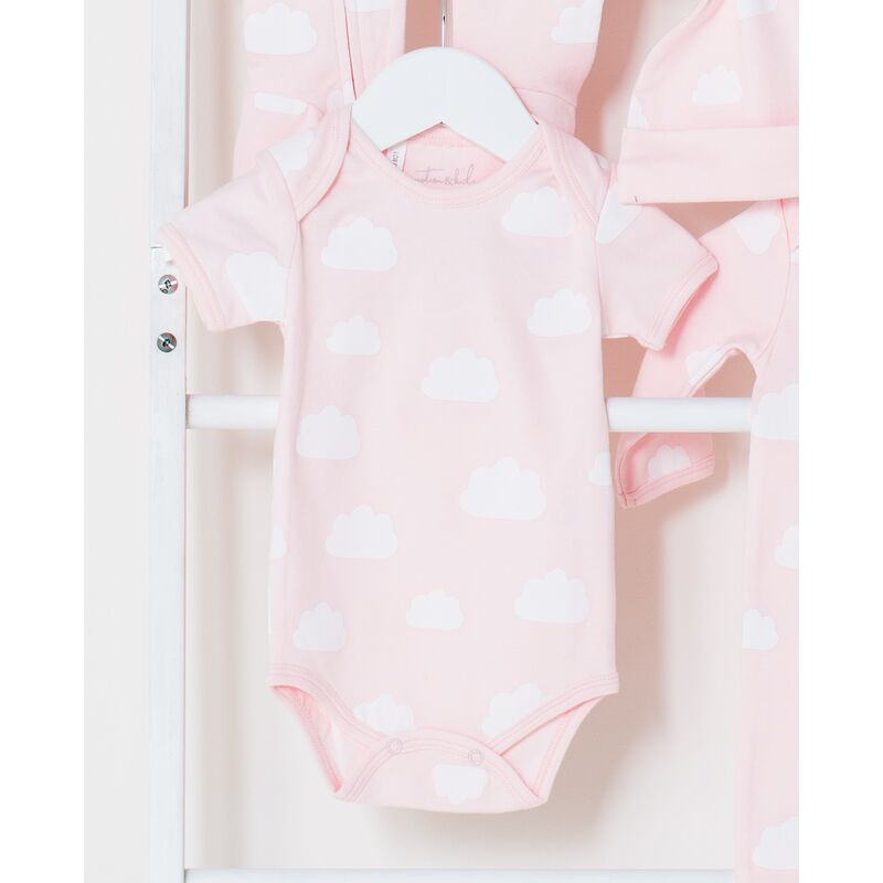 Pink Clouds Short Sleave Onesie
