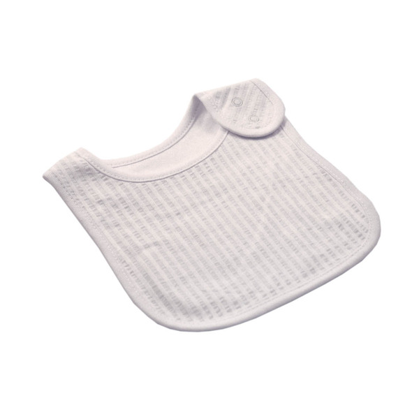 White Self Stripe Bib
